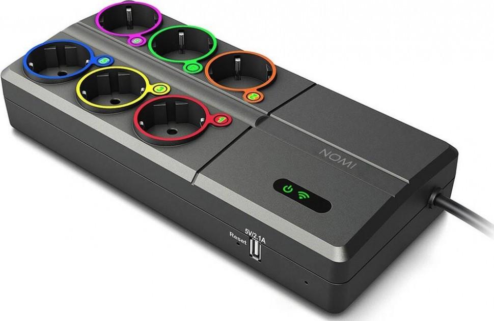 Умный сетевой фильтр NOMI моделі SOW019 (У2)
