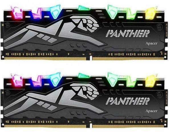 Пам'ять DDR4 RAM 16GB Apacer 2666MHz PC4-21300 (Kit of 2x8GB) Panther Rage RGB  (EK.16GAV.GQNK2) (код 112848)