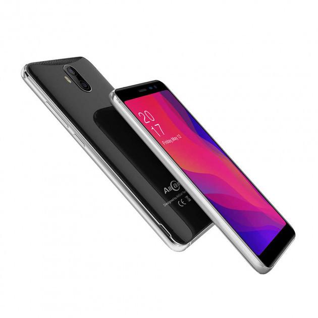 "Смартфон AllCall Rio X Black 2/16Gb, 8+2/2Мп, 2sim, 5.5"" IPS, 2850мАч, GPS, 4 ядра, 3G"