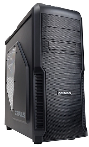 Корпус Корпус Zalman Z3 Plus(Black) Steel/Plastic, midleTower без БЖ  (код 64464)