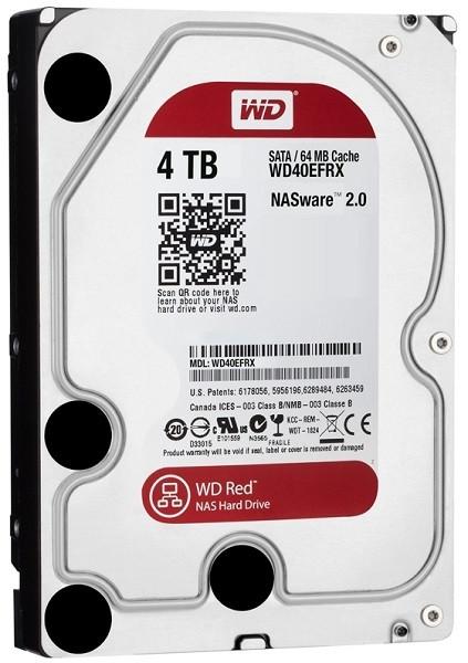 "Жорсткий диск HDD 4TB Western Digital Red NAS  3.5"", SATA 3, 64MB, 5400RPM  (WD40EFRX) (код 64558)"