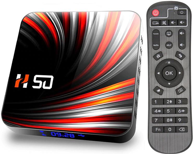 Приставка TV-BOX H50 | 4/32 GB | Rockchip RK3318 | Android TV Box