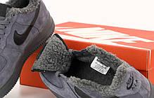 Зимние мужские кроссовки Nike Air Force с мехом. ТОП Реплика ААА класса., фото 2