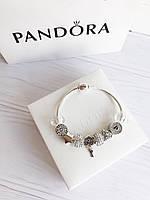 Браслет c шармами Pandora копия пандора Отличное качество