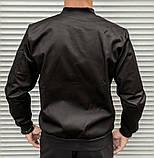 Мужской бомбер casual черного цвета из плотной ткани, фото 7