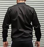 Мужской бомбер casual черного цвета из плотной ткани, фото 8