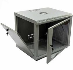 Шафа CMS  9U 600x500x507мм (Ш*Г*В), економ, акрилове скло, сіра (UA-MGSWL95G) (код 73492)