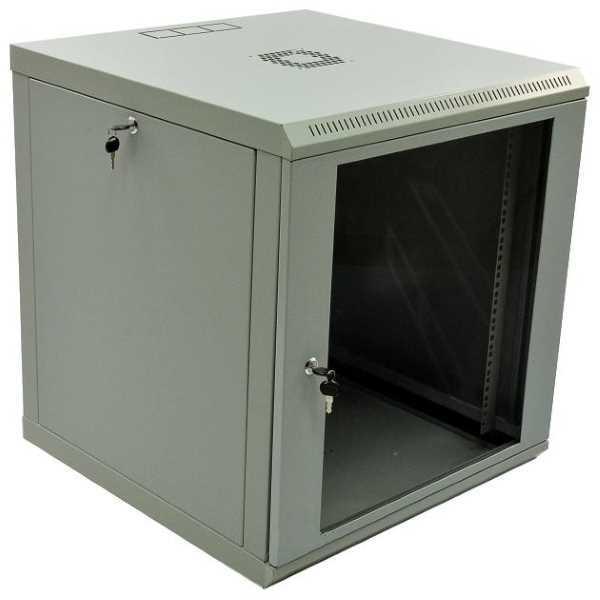 Шафа CMS 12U, 600x600x640мм (Ш*Г*В), економ, акрилове скло, сіра (код 73493)