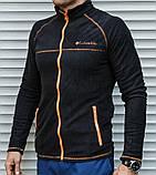 Мужская термо-кофта в стиле Сolumbia из плотного микро флиса, фото 3