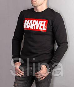 Мужской теплый свитшот Marvel черного цвета