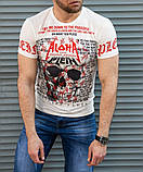 Белая мужская футболка Philipp Plein Aloha, фото 2