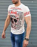 Белая мужская футболка Philipp Plein Aloha, фото 3