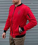 Мужская красная ветровка Puma Ferrari без капюшона, фото 3