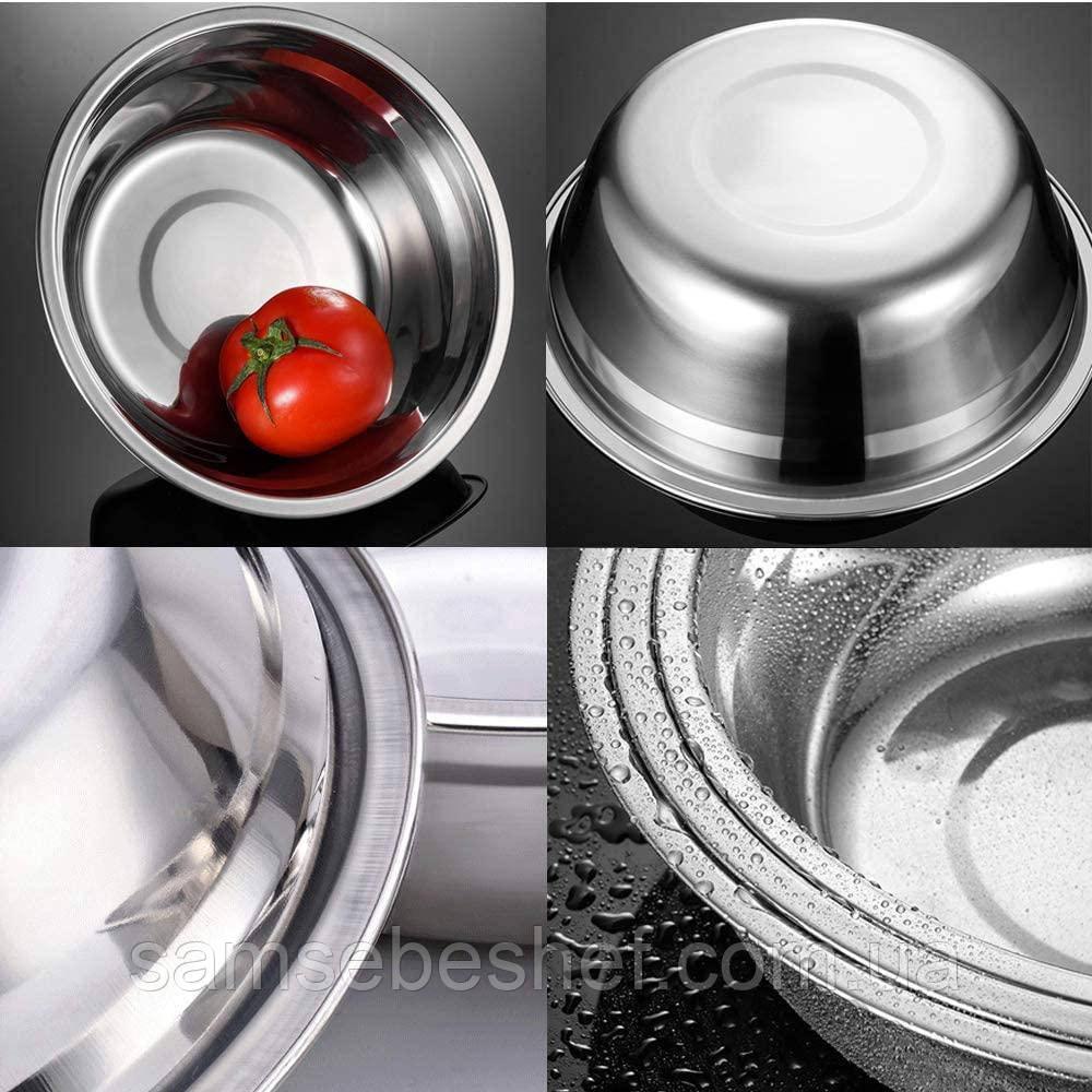 Кухонная миска для смешивания из нержавеющей стали Ø34 см