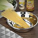 Кухонная миска для смешивания из нержавеющей стали Ø34 см, фото 2