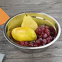 Кухонная миска для смешивания из нержавеющей стали Ø34 см, фото 8