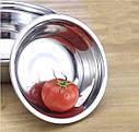 Кухонная миска для смешивания из нержавеющей стали Ø34 см, фото 9