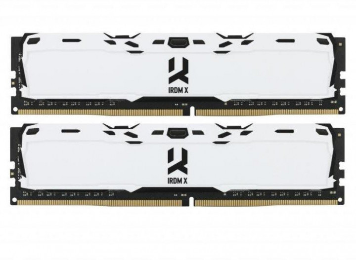 Пам'ять DDR4 RAM 16GB GOODRAM 3000MHz PC4-24000 (Kit of 2x8GB) Iridium White (IR-XW3000D464L16S/16GDC) (код