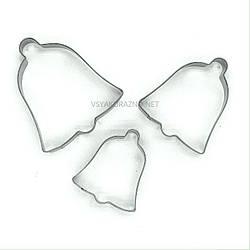 Формы для печенья - вырубка для пряников Колокольчик (3 шт) / Форми для печива - вирубка для пряників