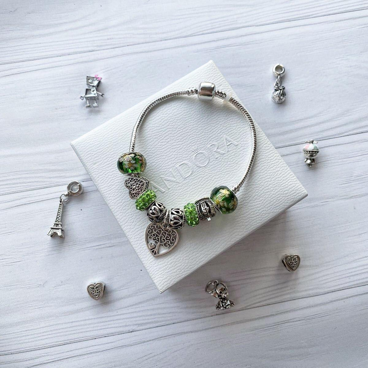 Pandora браслет с шармами ( стильный браслет пандора )