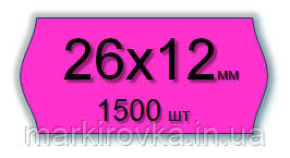 Этикет-лента 26х12 мм для однострочных этикет-пистолетов и нумераторов МЕТО, Blitz, OPEN... Цвет - малиновый