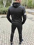 Мужской спортивный костюм Reebok UFC чёрный с капюшоном, фото 3