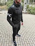 Мужской спортивный костюм Reebok UFC чёрный с капюшоном, фото 6
