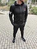 Мужской спортивный костюм Reebok UFC чёрный с капюшоном, фото 8