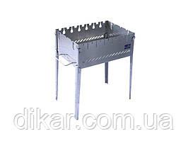 Раскладной мангал чемодан на 6 шампуров из нержавеющей стали