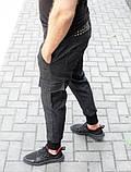 Мужские джоггеры с карманами карго из стрейчевой джинсовой ткани, фото 2