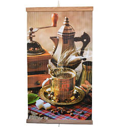 Настенный обогреватель-картина инфракрасный ТРИО 400W, 100 х 57 см, кофе