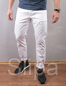 Мужские летние белые джинсы