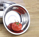 Кухонная миска для смешивания из нержавеющей стали Ø36 см, фото 9