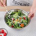 Кухонная миска для смешивания из нержавеющей стали Ø36 см, фото 10