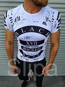 """Футболка мужская """" Black Rocked """" белая XL"""