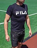 Мужская футболка Fila тёмно-синяя, фото 2