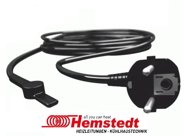 Греющий кабель для обогрева труб и водостоков 55 м, 1650 Вт Hemstedt