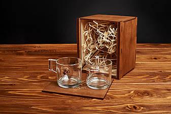 Набір з двох чашок для кави еспресо зі справжньою кулею, фото 2