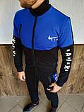 Мужской спортивный костюм Nike Air синий с чёрным, фото 2