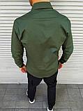 Мужская рубашка с лампасом цвета хаки, фото 3