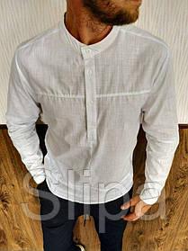 Мужская рубашка с длинным рукавом белая