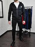 Тёплый спортивный костюм Nike чёрный (С начёсом), фото 3