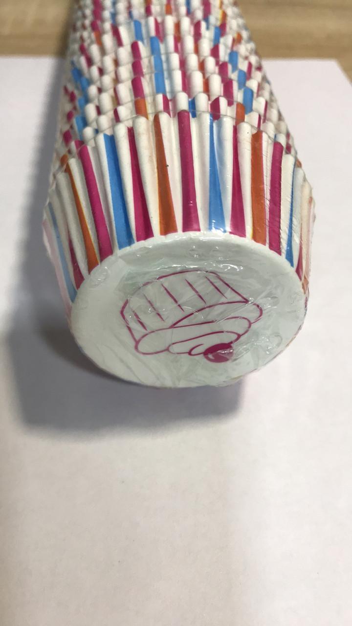 Тарталетки капсулы бумажные для выпечки с рисунком 1000 шт