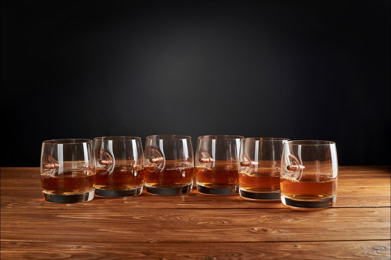 Набір склянок для віскі з богемського скла