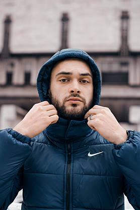"""Зимняя Куртка """"Европейка"""" синий, фото 3"""