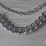 Многослойная цепочка на шею с кулоном ожерелье колье, фото 5