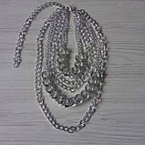 Многослойная цепочка на шею с кулоном ожерелье колье, фото 4