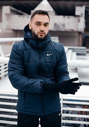 """Зимняя Куртка """"Европейка"""" синий, фото 2"""