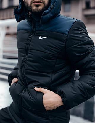"""Зимняя Куртка """"Европейка"""" сине-черная, фото 2"""