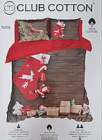 Постіль новорічна CLUB COTTON, Євро 200х220 см, Ранфорс / Комплект постельного белья